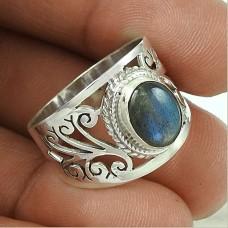 Big Natural!! Labradorite 925 Sterling Silver Ring Exporter India