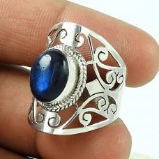 Big Fabulous!! Labradorite 925 Sterling Silver Ring