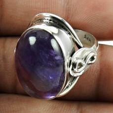 Sightly 925 Sterling Silver Amethyst Gemstone Ring Vintage Jewelry
