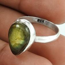 Awesome!! 925 Silver Labradorite Gemstone Ring