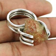 Good-Looking Red Sunstone Gemstone 925 Sterling Silver Antique Ring Jewellery