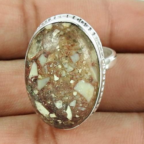 Fashion 925 Sterling Silver Rosetta Gemstone Ring Antique Jewelry