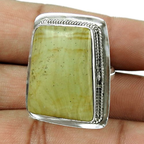 Rattling 925 Sterling Silver Jasper Gemstone Ring Jewellery