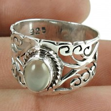 Daily Wear 925 Sterling Silver Moon Stone Gemstone Ring Jewellery