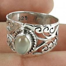 Daily Wear 925 Sterling Silver Moon Stone Gemstone Ring Jewellery