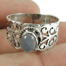 Party Waer Ring Chalcedony Gemstone 925 Sterling Silver Jewellery Fournisseur