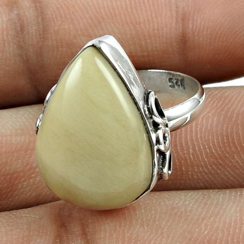 Excellent 925 Sterling Silver Jasper Gemstone Ring Vintage Jewellery