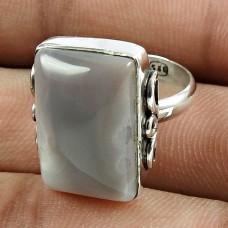 Beautiful 925 Sterling Silver Botswana Agate Gemstone Ring Jewelry Wholesale