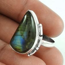 Mystic Princess!! 925 Silver Labradorite Gemstone Ring