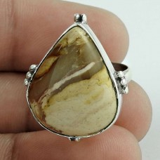 925 Sterling Silver Indian Jewellery Fashion Mookaite Gemstone Ring