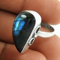 Misty Morning!! 925 Silver Labradorite Gemstone Ring