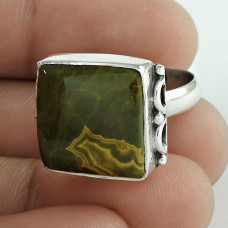 Sterling Silver Jewellery Trendy Jasper Gemstone Ring