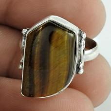 Sterling Silver Fashion Jewellery Beautiful Tiger Eye Gemstone Ring