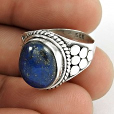 925 Silver Jewellery Rare Lapis Gemstone Ring Fabricant