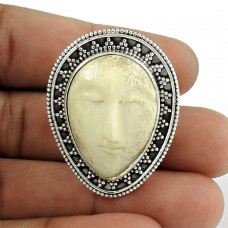 Indian Silver Jewellery Beautiful Moon Face Gemstone Ring Supplier India