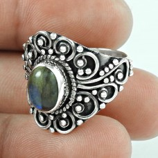 Big Relief Sterling !! Labradorite Gemstone 925 Sterling Silver Ring Großhändler