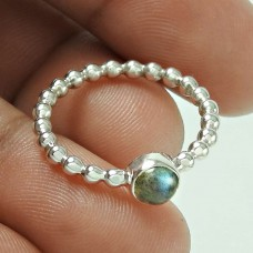 Good Fortune Labradorite Gemstone Silver Ring Jewellery Wholesaler India