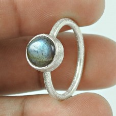 Stunning Natural Rich!! Labradorite 925 Sterling Silver Ring Fabricante