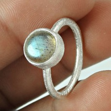 First Sight ! Labradorite Gemstone 925 Sterling Silver Ring