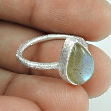 Tropical Glow!! Labradorite 925 Sterling Silver Ring Fournisseur