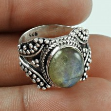 Exclusice Labradorite Gemstone Sterling Silver Ring Jewellery Exporter India