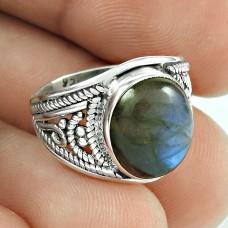 New Awesome Labradorite Gemstone Silver Jewellery Ring
