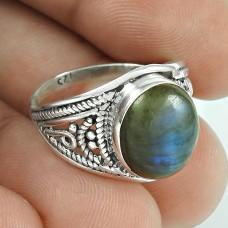 Fabulous Labradorite Gemstone Silver Jewellery Ring