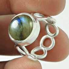 Handcrafted Labradorite Gemstone Sterling Silver Ring Jewellery Lieferant