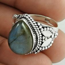 925 Sterling Silver Jewellery !! A Secret Labradorite Gemstone Silver Jewellery Ring