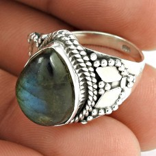 925 Sterling Silver Jewellery !! Awesome Labradorite Gemstone Silver Jewellery Ring