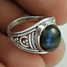 New Style Labradorite Gemstone Silver Jewellery Ring Exporter