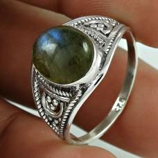 Possessing Labradorite Gemstone Silver Jewellery Ring Fabricante