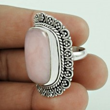 Draditions! Rose Quartz 925 Sterling Silver Ring Exporter India