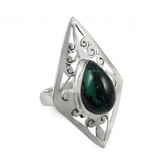 Sizzling Turquoise Gemstone Silver Ring Jewellery