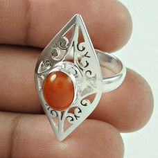 New Style Of !! 925 Sterling Silver Carnelian Ring