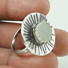 Antique ! Druzy Gemstone 925 Sterling Silver Ring