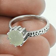 2018 New Design Druzy Gemstone Silver Ring Jewellery