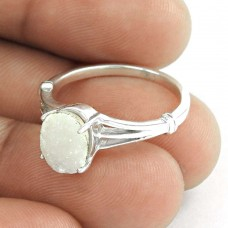 Good Looking Druzy Gemstone Silver Ring Jewellery
