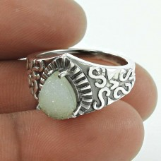 Excellent ! Druzy Gemstone 925 Sterling Silver Ring