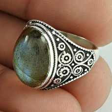 Big Delicate Labradorite Gemstone Sterling Silver Ring Jewellery
