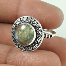 Elegant !! Labradorite Gemstone 925 Sterling Silver Ring