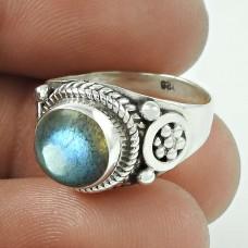 Stylish Design!! Labradorite 925 Sterling Silver Ring