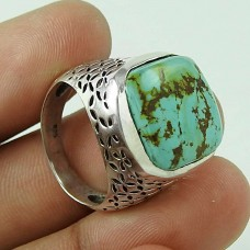 Intrigant!! Turquoise 925 Sterling Silver Ring