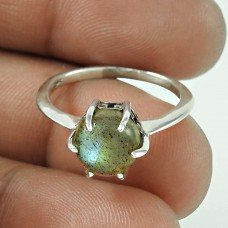 Misty Morning Labradorite Gemstone Silver Ring Jewellery