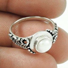 New Design!! 925 Sterling Silver Pearl Ring De gros