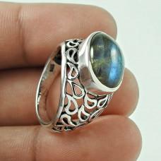 AlluRing!! 925 Sterling Silver Blue Labradorite Ring Wholesaler
