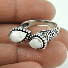 Wholesaler ! Pearl Gemstone 925 Sterling Silver Ring