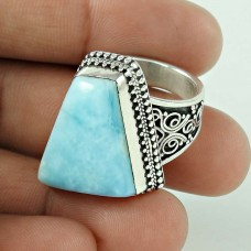 Graceful!! 925 Sterling Silver Larimar Ring Wholesaler India
