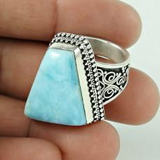 Graceful!! 925 Sterling Silver Larimar Ring Wholesaler India