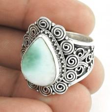 Handy!! 925 Sterling Silver Larimar Ring